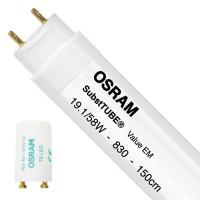 Osram SubstiTUBE Value EM 19.1W 830 150cm | Warm Wit - incl. LED Starter - Vervangt 58W
